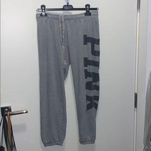 Grey PINK sweatpants Size XS